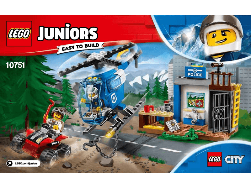 LEGO-10751-1_i-Instructions-Original Instructions for Set 10751 - Mountain Police Chase