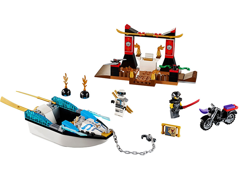 LEGO-10755-LEGO Juniors-Zane's Ninja Boat Pursuit