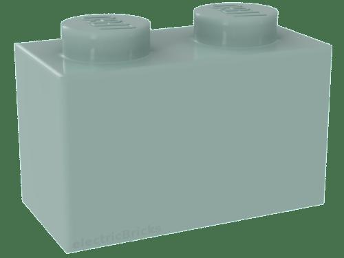 Lego 2 x piedra bloque de creación 2465 nuevo gris claro 1x16 light bluish Gray