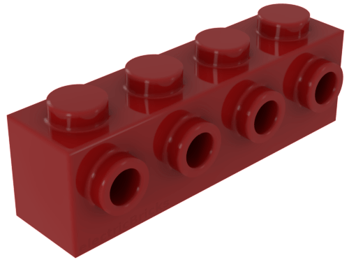 Lego Lot of 50 New Reddish Brown Bricks Modified 1 x 1 with Stud on 1 Side Part