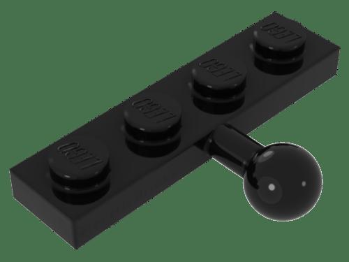 4217558 lego placa modificado offset 1 x 4 gris oscuro 5 unid.