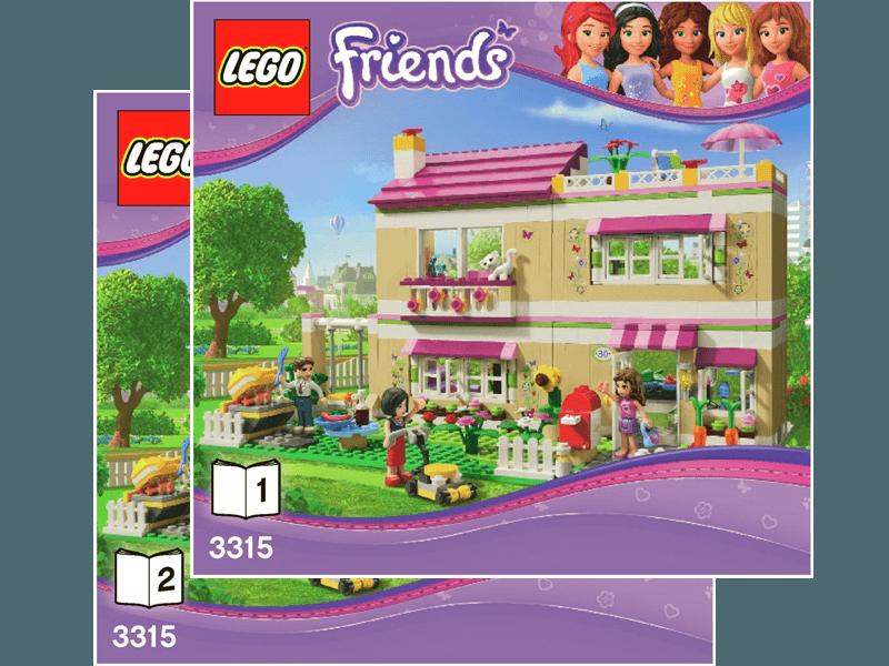 Lego 3315 1 I Instructions Original Instructions For Set 3315 Olivia S House