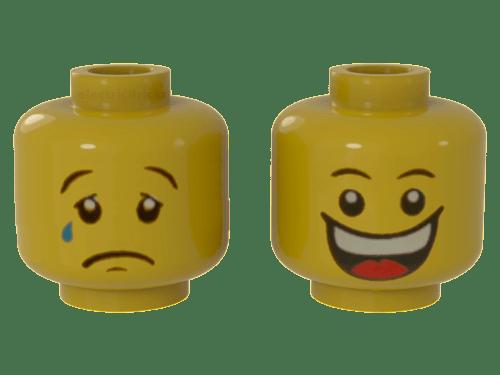 LEGO PART 88062PB01 MINIFIGURE HEAD BUZZ LIGHTYEAR TOY STORY