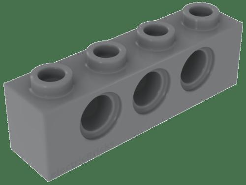 2 x lego 3702 Brick Hole Black, Black Technic Brick 1x8 Holes New New