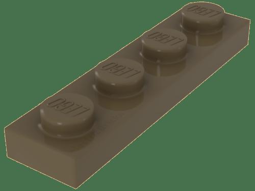 LEGO® Tan Plate 1 x 4 Design ID 3710