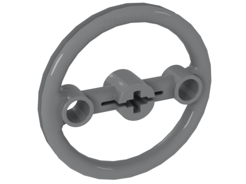 1 X Lego Technic 3736 Steering Pulley Large Light Gray