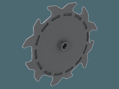 LEGO® Dark Gray Round Saw Blade 9 x 9 Pin Hole /& Teeth Design ID 61403