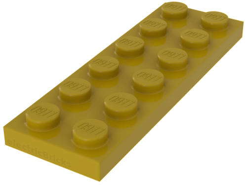 LEGO® Yellow Plate 2 x 6 Part 3795