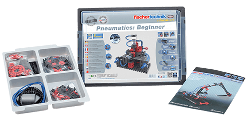 Fischertechnik-540946-STEM Kits-Pneumatics: Beginner