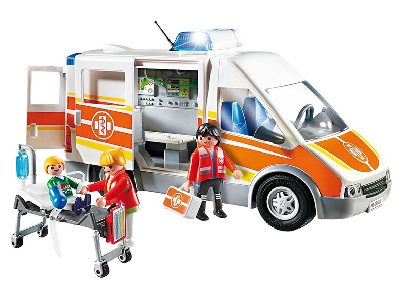 PLAYMOBIL-6685-City Life-Ambulance with Lights and Sound