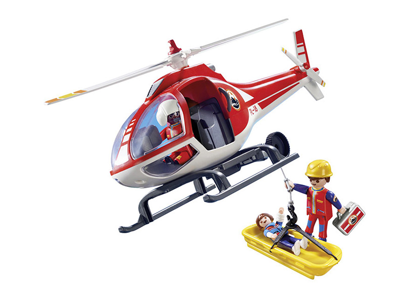PLAYMOBIL-9127-ACTION-Mountain Rescue Helicopter