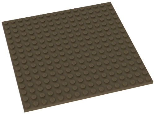 LEGO Dark Tan Plate 16 x 16 4613196 91405