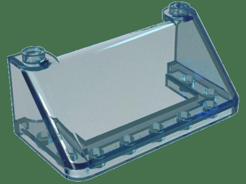 Lego parte 3823 Trans Parabrisas Azul Claro 2 X 4 X 2 para 2 piezas