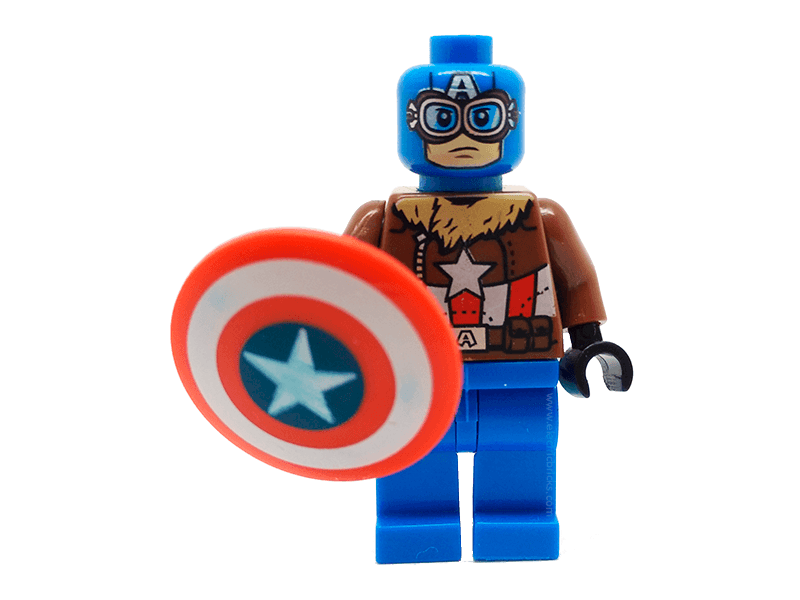 Compatible-mfwSHCapAme3-Superheroes-Minifig World Superhero Captain America3