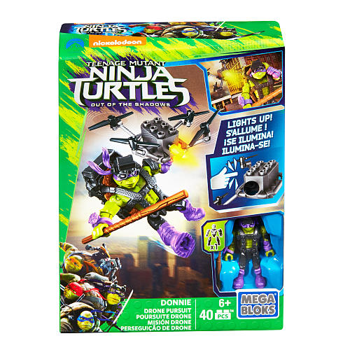 Mega Bloks-DPF74-Ninja Turtles-Donnie Drone Pursuit