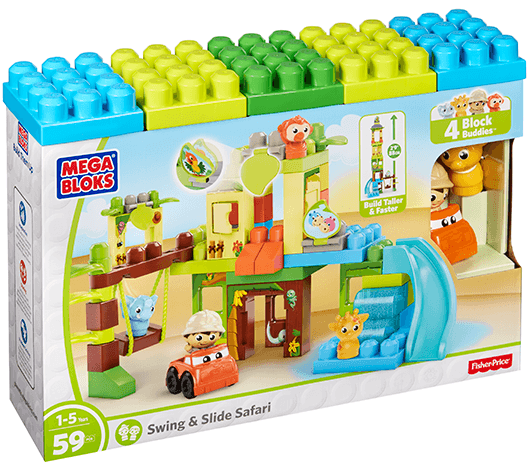 Mega Bloks-DPJ58-Basics-Swing & Slide Safari