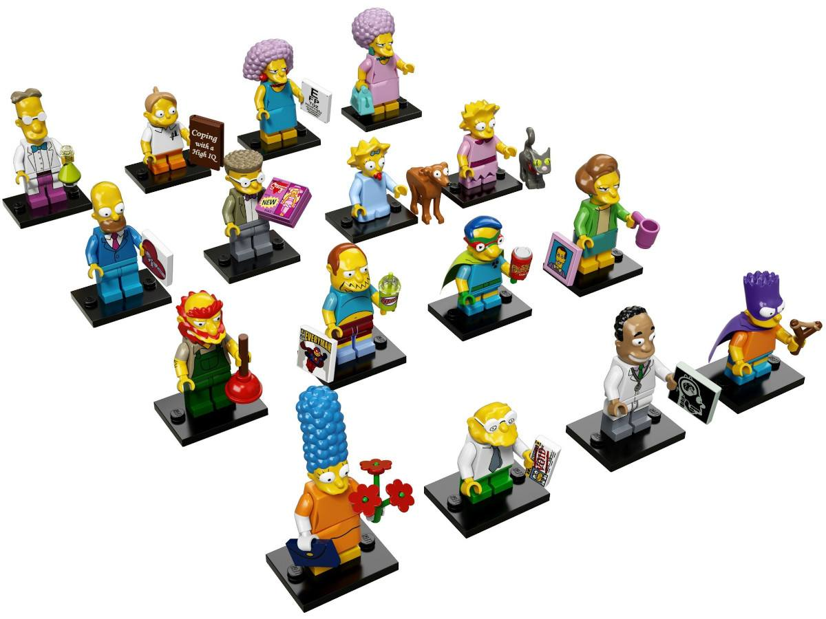 LEGO-71009-16-Complete Series-All the collection Minifigures The Simpsons Series 2