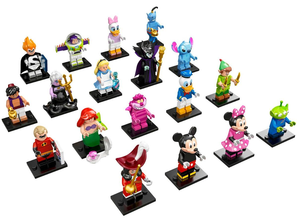 LEGO-71012-18-Complete Series-All the collection Minifigures Series Disney