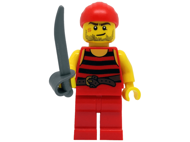 LEGO-min40158pir5--Minifigure 40158 Pirate 5. Black and red stripes