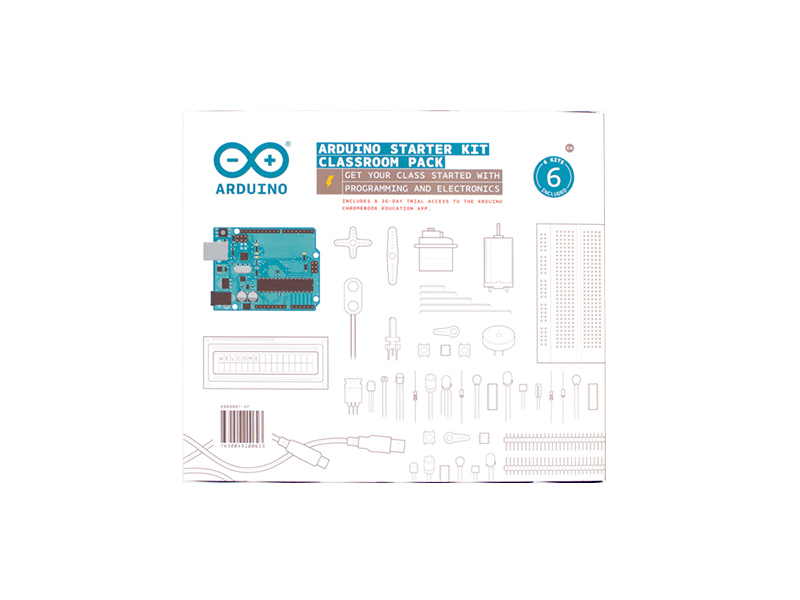 Arduino Education-K000007-6P-Arduino Education-Arduino Starter Kit Classroom Pack