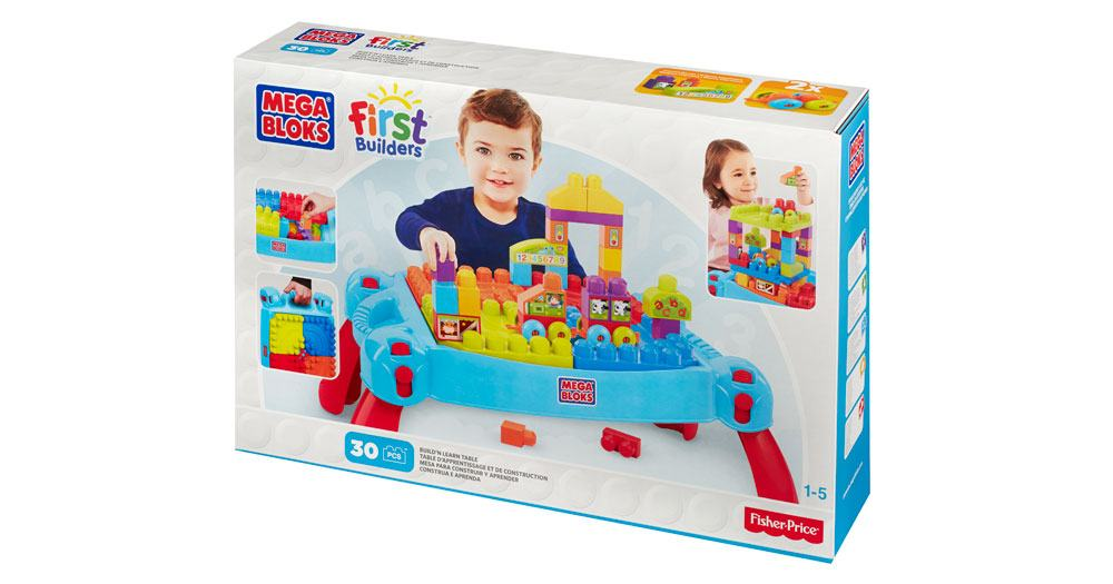 Mega Bloks-CNM42-Basics-Build 'n Learn Table