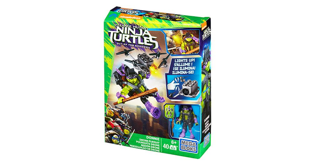 Mega Bloks-DPF75-Ninja Turtles-Donnie Drone Pursuit