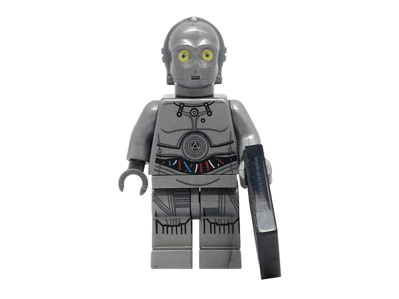 Compatible-mfwSWc3pog-Star Wars-Minifig World Star Wars C3PO grey