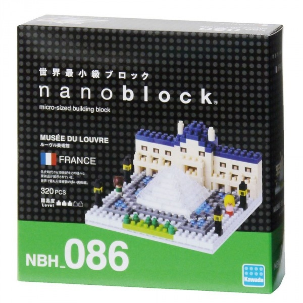 nanoblock-NBH-086-Monumentos-Museo del Louvre
