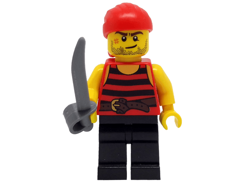 LEGO-min40158pir6--Minifigure 40158 Pirate 6. Black and red stripes