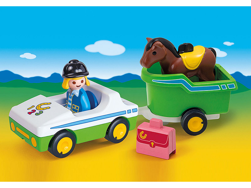 PLAYMOBIL-70181-1.2.3-Car with Horse Trailer