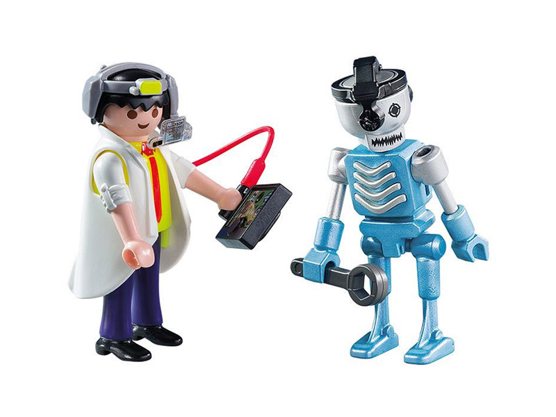 PLAYMOBIL-6844-Other-Scientist with Robot Duo Pack