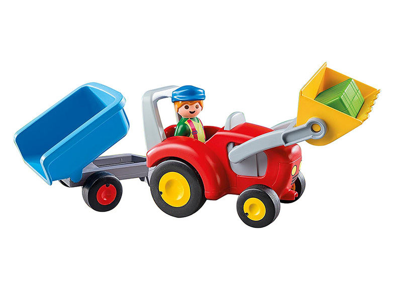 PLAYMOBIL-6964-1.2.3-Tractor with Trailer