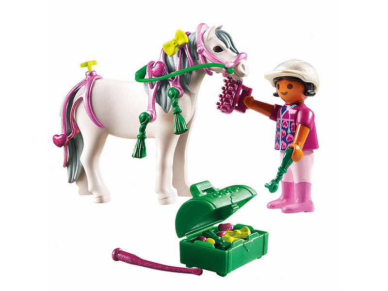 PLAYMOBIL-6969-Country-Groomer with Heart Pony