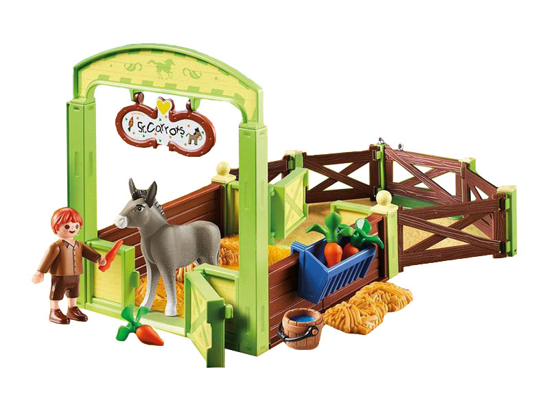 PLAYMOBIL-70120-Spirit-Snips & Señor Carrots with Horse Stall