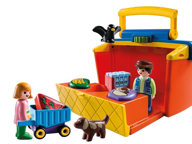 PLAYMOBIL-9123-1.2.3-Take Along Market Stall