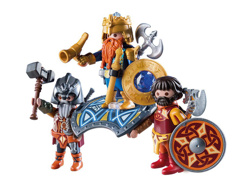 PLAYMOBIL-9344-KNIGHTS-Dwarf King with Guards