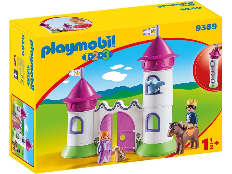 Playmobil 123 Castle With Stackable Towers Building Set 9389 NEW Learning Toys
