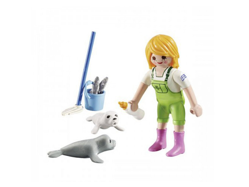 PLAYMOBIL-9418-Other-Zookeeper with Seal Pups