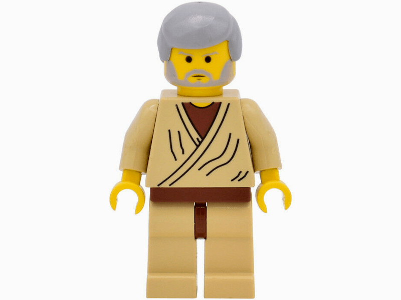 LEGO-sw0023a-Star Wars-Obi-Wan Kenobi (Old with Light Bluish Gray Hair)