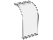 Trans-Clear Panel 6 x 6 x 9 Curved Top