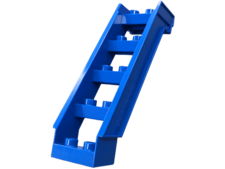 Blue Duplo Building Staircase