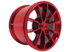 Chrome Red Wheel 62.3mm D. x 42mm Technic Racing Large