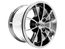 Chrome Silver Wheel 62.3mm D. x 42mm Technic Racing Large