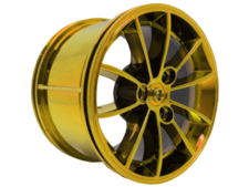 Chrome Yellow Wheel 62.3mm D. x 42mm Technic Racing Large