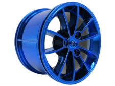 Chrome Blue Wheel 62.3mm D. x 42mm Technic Racing Large