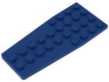 Azul. Plancha Angular doble 4 x 9