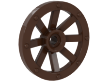 Brown Wheel Wagon Small (27mm D.)