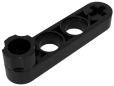 Black Technic, Liftarm 1 x 4 Thin with Stud Connector