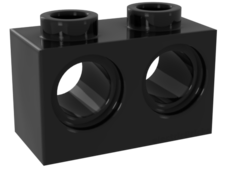 Black Technic, Brick 1 x 2 with Holes