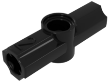 Black Technic, Angle Connector #2 - 180 degrees